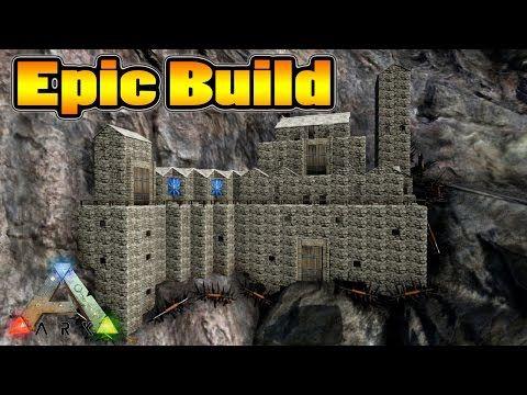 Ark Survival Evolved - Epic Cliff Base Build - YouTube