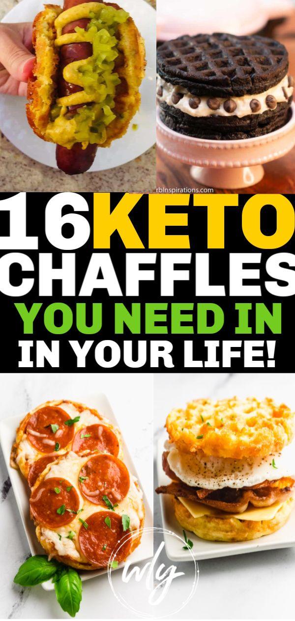 Photo of 16 Best Keto Chaffles ~ Dessert, Savory & Breakfast Chaffle Rezepte