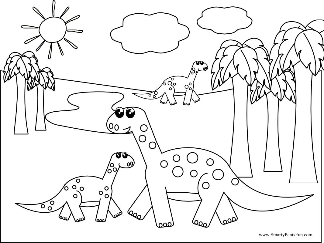 Dinosaur Coloring Pages Printable For Kids