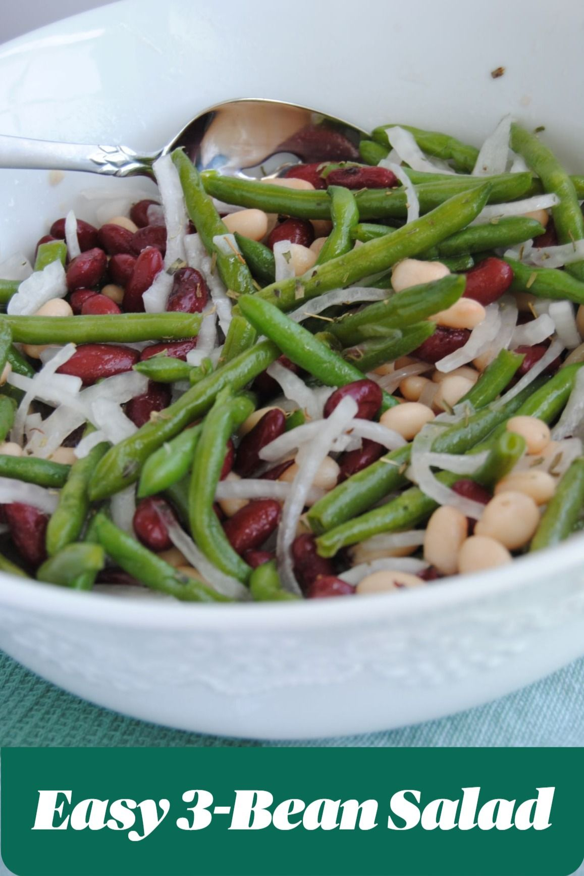 Easy 3 Bean Salad With Dressing Simply Cooking In Texas Recipe In 2020 3 Bean Salad Bean Salad Side Recipes