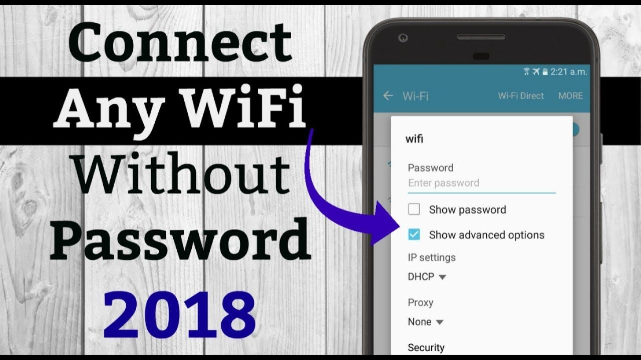 How To Connect Any Wifi Without Password 2018 - Youtube -1926