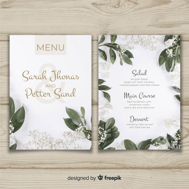 Free Wedding Ideas: Free Wedding Menu Templates #free #printables
