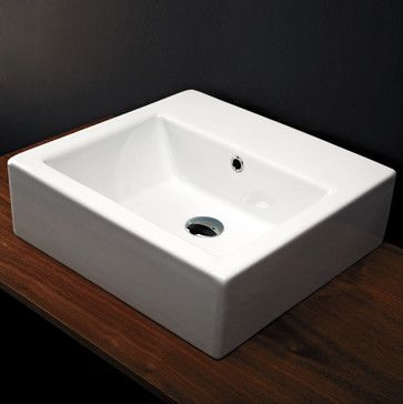 Aquamedia Washbasin in Wall-mount  Vessel Washbasins - modern - Vessel Sinks Bathroom