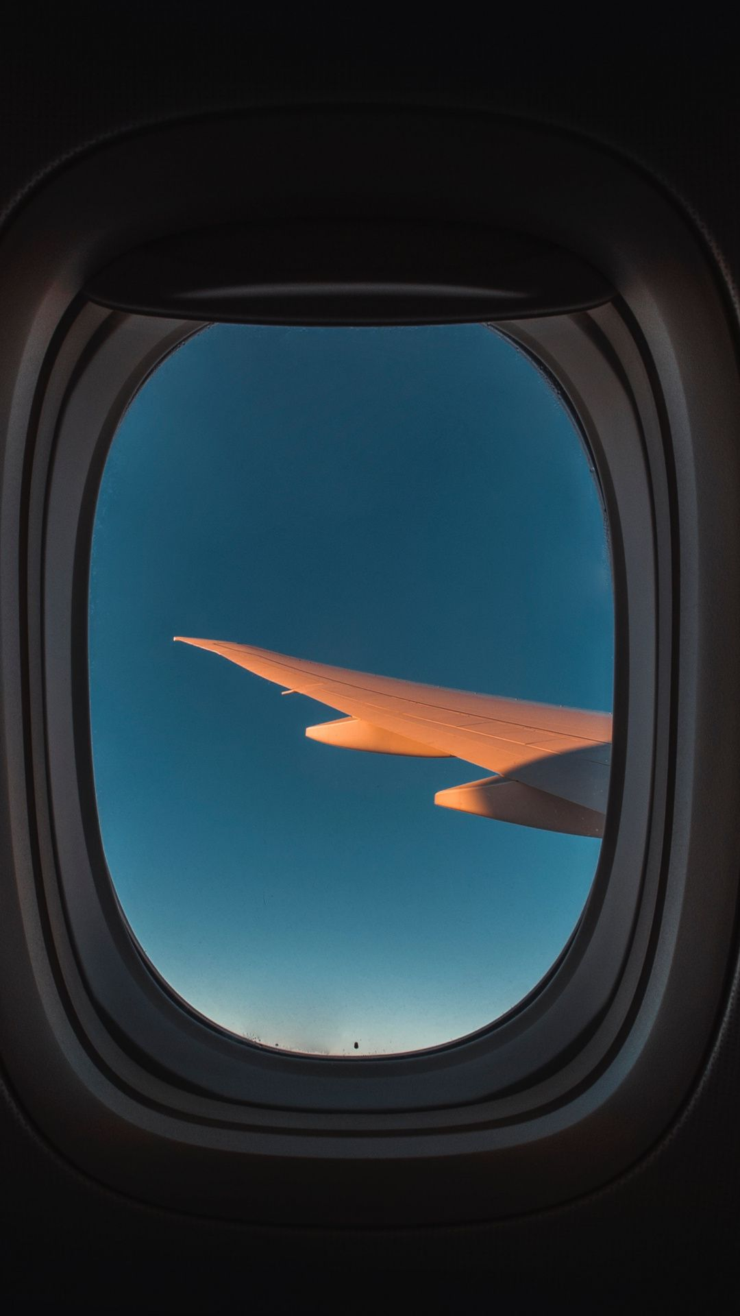Wallpapers airliner, airline, wing, air travel, blue in