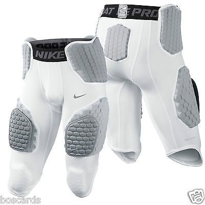 NEW Mens Nike PRO COMBAT HYPERSTRONG Padded Hip Tail Football Shorts White $50