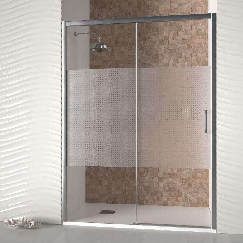 Mampara de ducha frontal corredera recife mamparas for Puertas para duchas