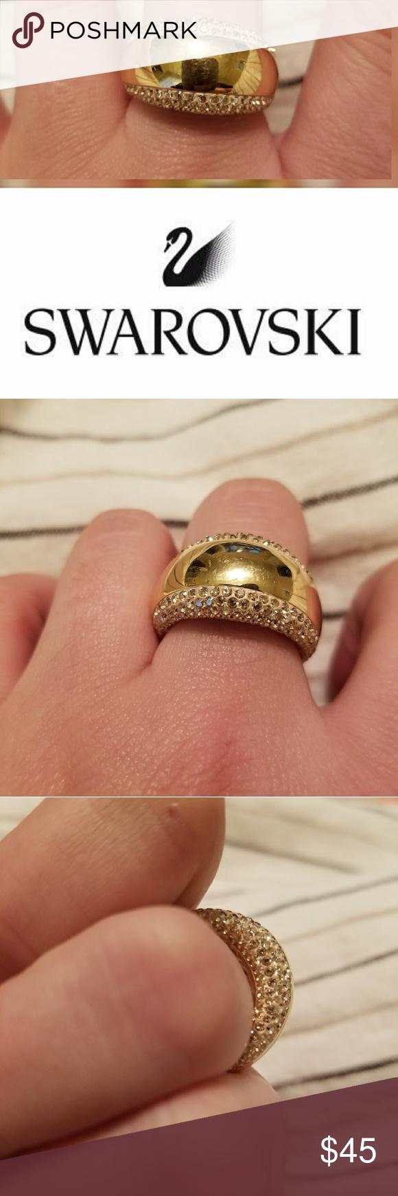 8d6d22f17699d Swarovski Gold Ring Authentic Swarovski