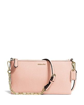 Coach Madison Kylie Crossbody In Saffiano Leather Peach Rose Gold Bloomingdale S