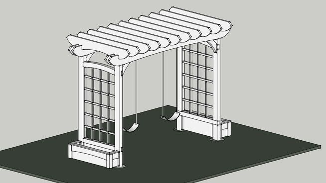 Image result for Pergola sketchup | Pergola, Backyard ... on Sketchup Backyard id=55277