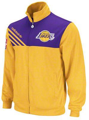 1d46deab03408 Los Angeles Lakers Gold adidas Originals NBA Action Track Jacket  lakers   nba  lalakers