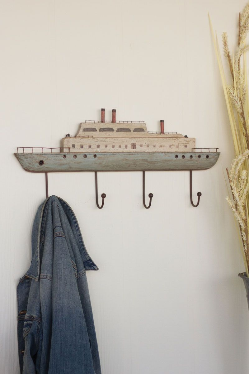 Wooden Steam Ship Coat Rack | Vintage Bathroom Accessories ...