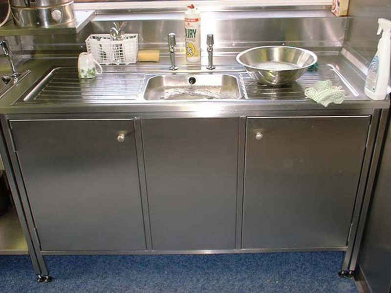Stainless Steel Kitchen Sink Cabinet | Catering & Kitchens « 100 ...