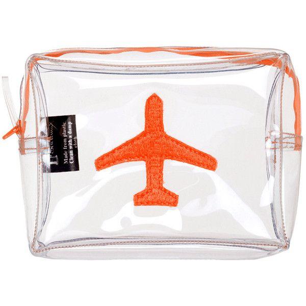 12b88d1a8b31 Emma Lomax London Aeroplane Wash Bag - Orange found on Polyvore ...
