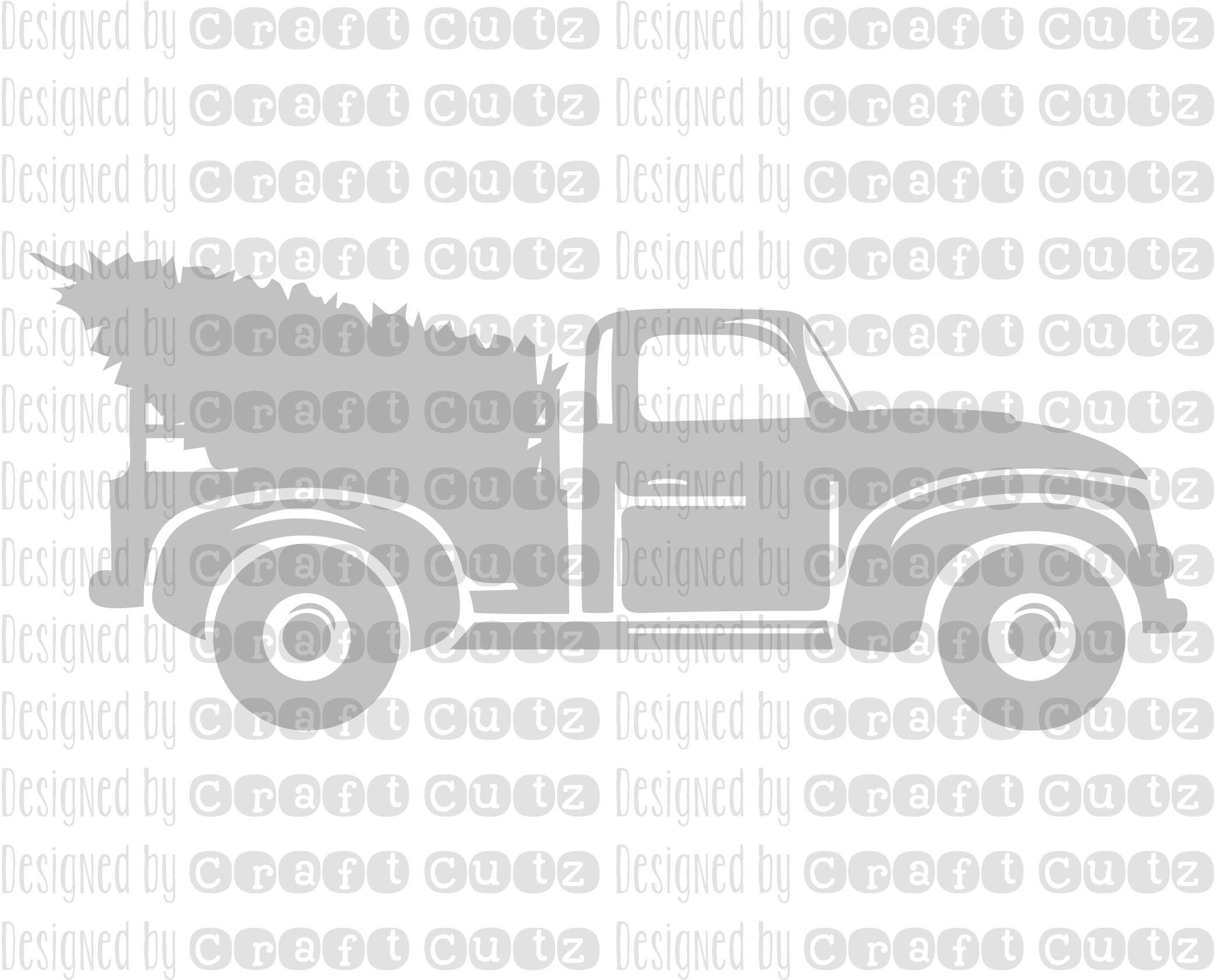 Christmas Tree Farm Truck Digital Download Winter svg