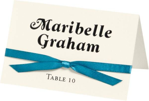 Superfine Soft White Printable Place Cards Wedding Invitations