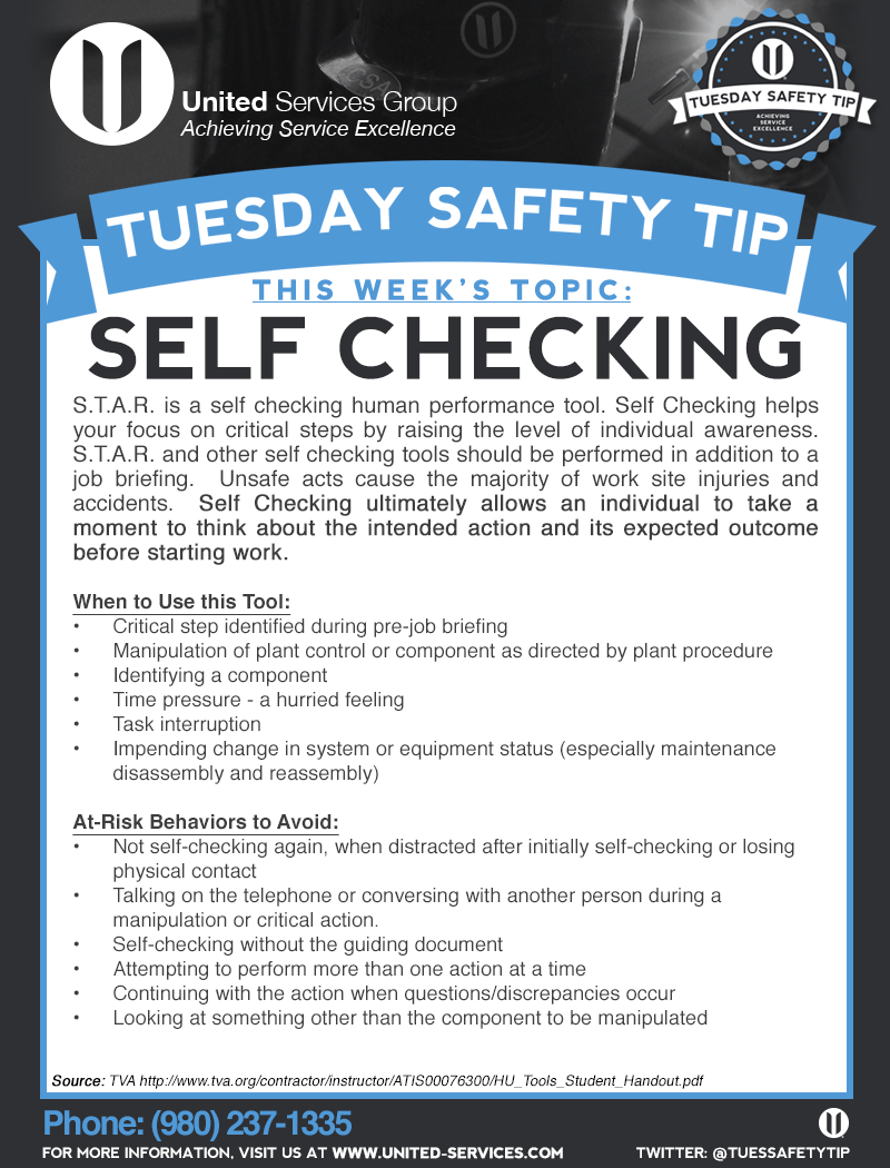 This week's Tuesday Safety Tip is about the Human