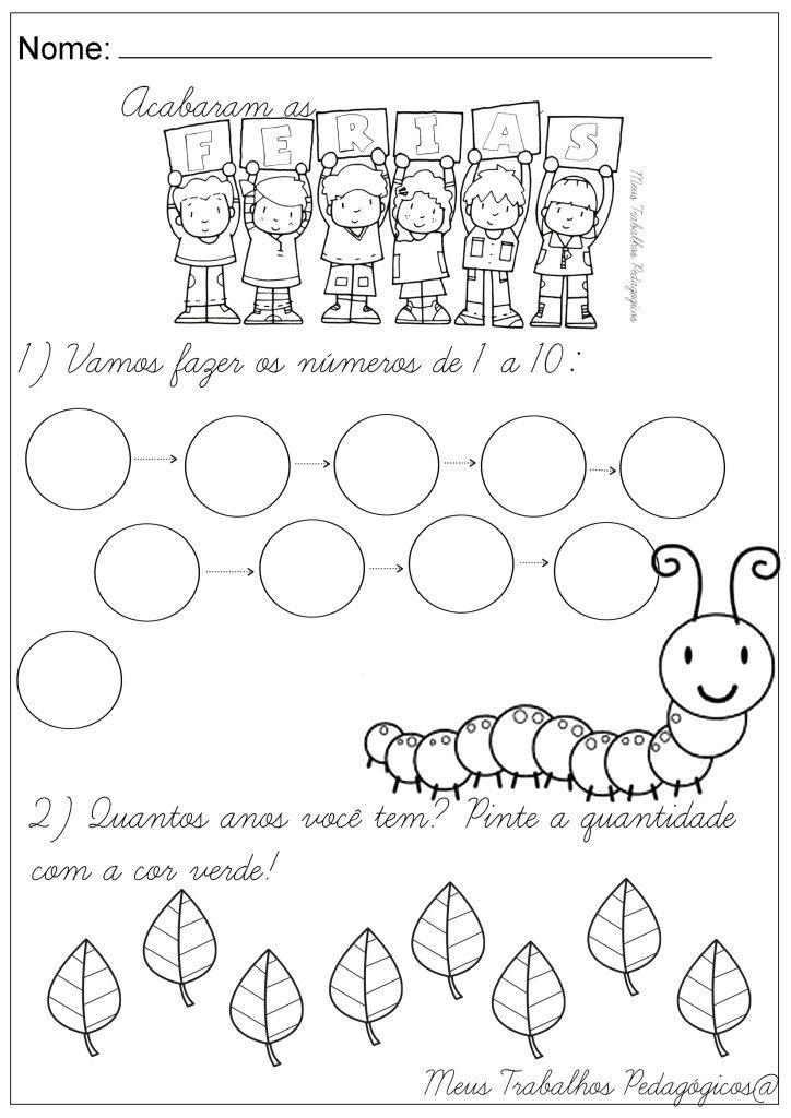 Atividades Volta As Aulas Com Imagens Atividades Atividades