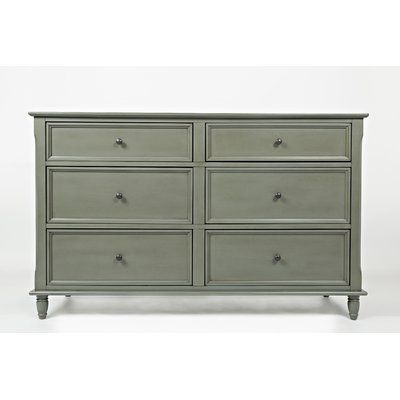 Alcott Hill Parkridge 6 Drawer Double Dresser Double