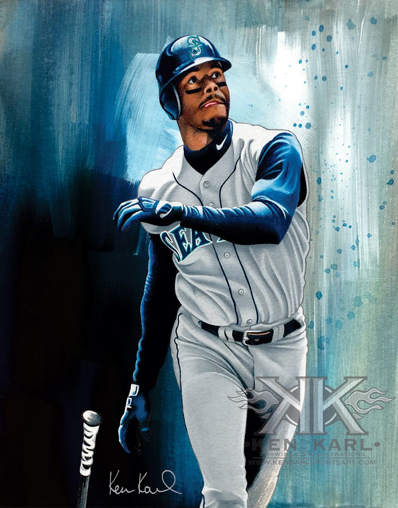 064ba9ae46 Ken Griffey Jr LE Print of colored pencil drawing by Ken Karl | Art ...