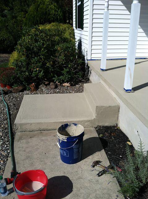 Pine Tree Home Resurfacing Concrete Porch Makeover Porch Makeover Concrete Patio Front Porch Makeover