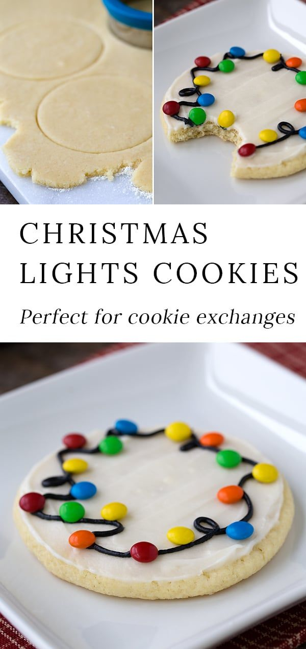 Looking for an easy decorated Christmas cookie recipe to make with the kids These Christmas Lights Cookies are the best They are very fun to bring to cookie exchanges so...