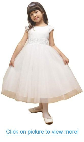 KID Collection Girls 2 to 12 Flower Girl Communion Pageant Dress