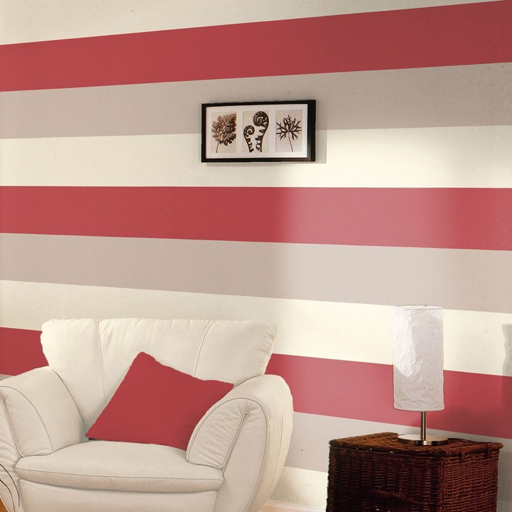 Stripe Wallpaper Red Cream And Grey Direct Wallpapers E40910 Striped Wallpaper Red Striped Wallpaper Red Feature Wall