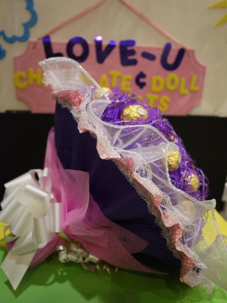 Chocolate birthday gift 24 Ferrero Rocher Chocolate Flower | Etsy