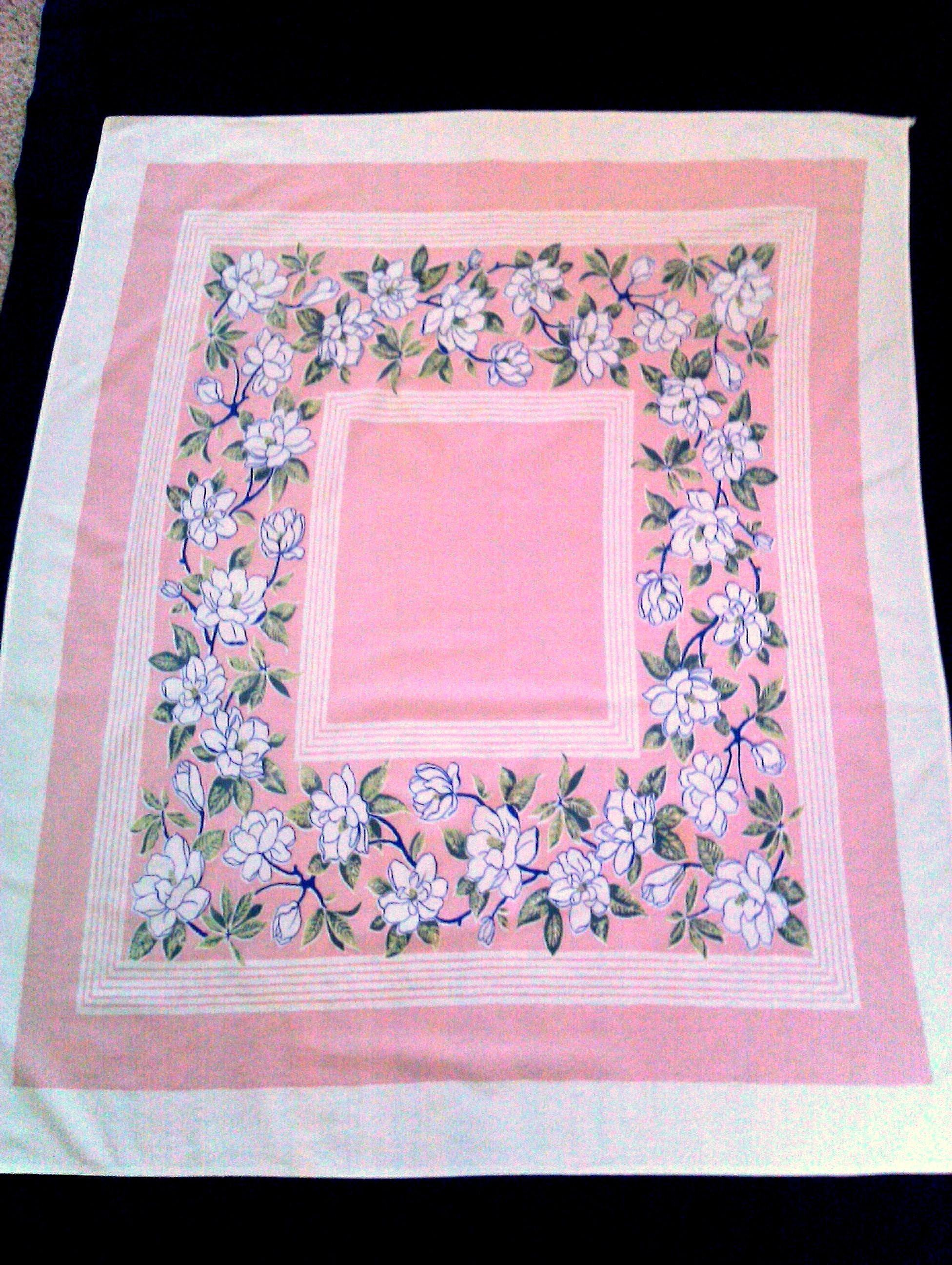 pink tablecloth