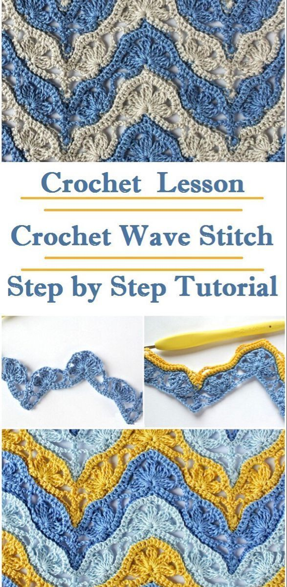 Crochet Wave Stitch - #BabyKnits #crochet #Crocheting #Knitting #KnittingAnd... - Welcome to Blog