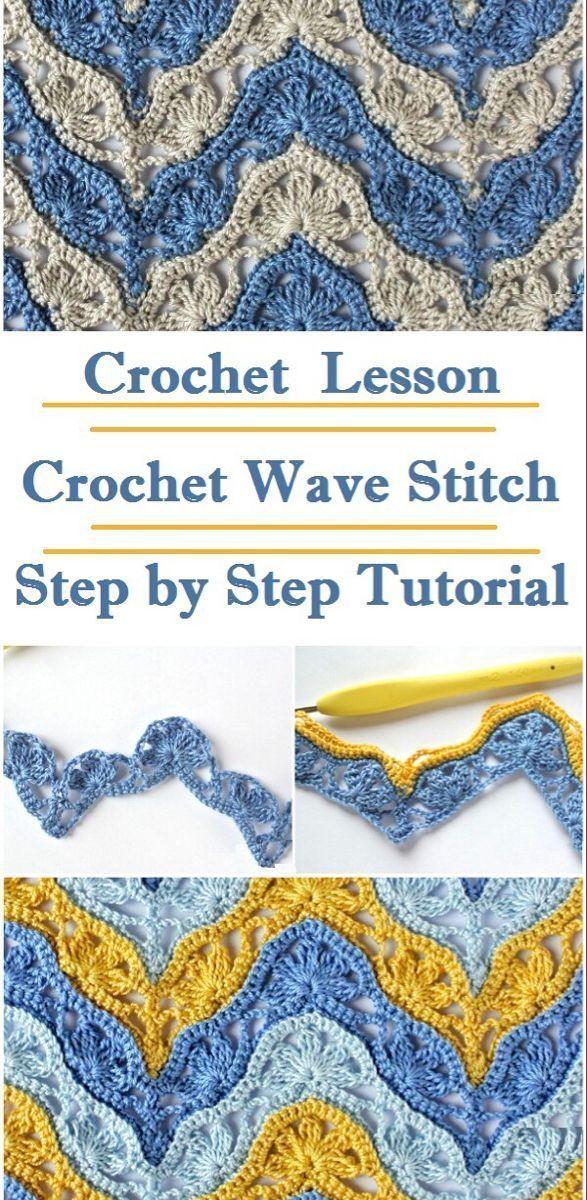 Photo of Crochet Wave Stitch –   – #BabyKnits #crochet #Crocheting #Knitting #KnittingAnd…