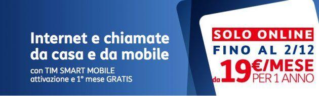 TIM Smart Mobile raddoppia: 1000 minuti al mese e 3GB di traffico mobile