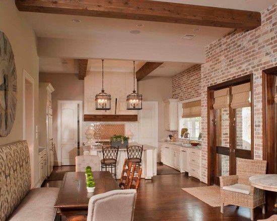 Brick walls design google search kitchen design ideas for Exposed brick wall kitchen ideas