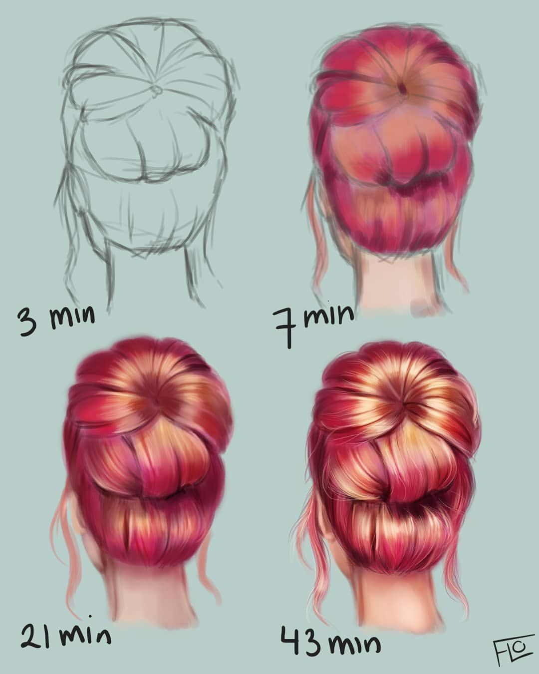 Painting Hair What Color Is Your Hair I Have Straight Dark Blonde Hair Bu Digital Art Beginner Digital Art Tutorial Digital Painting Tutorials