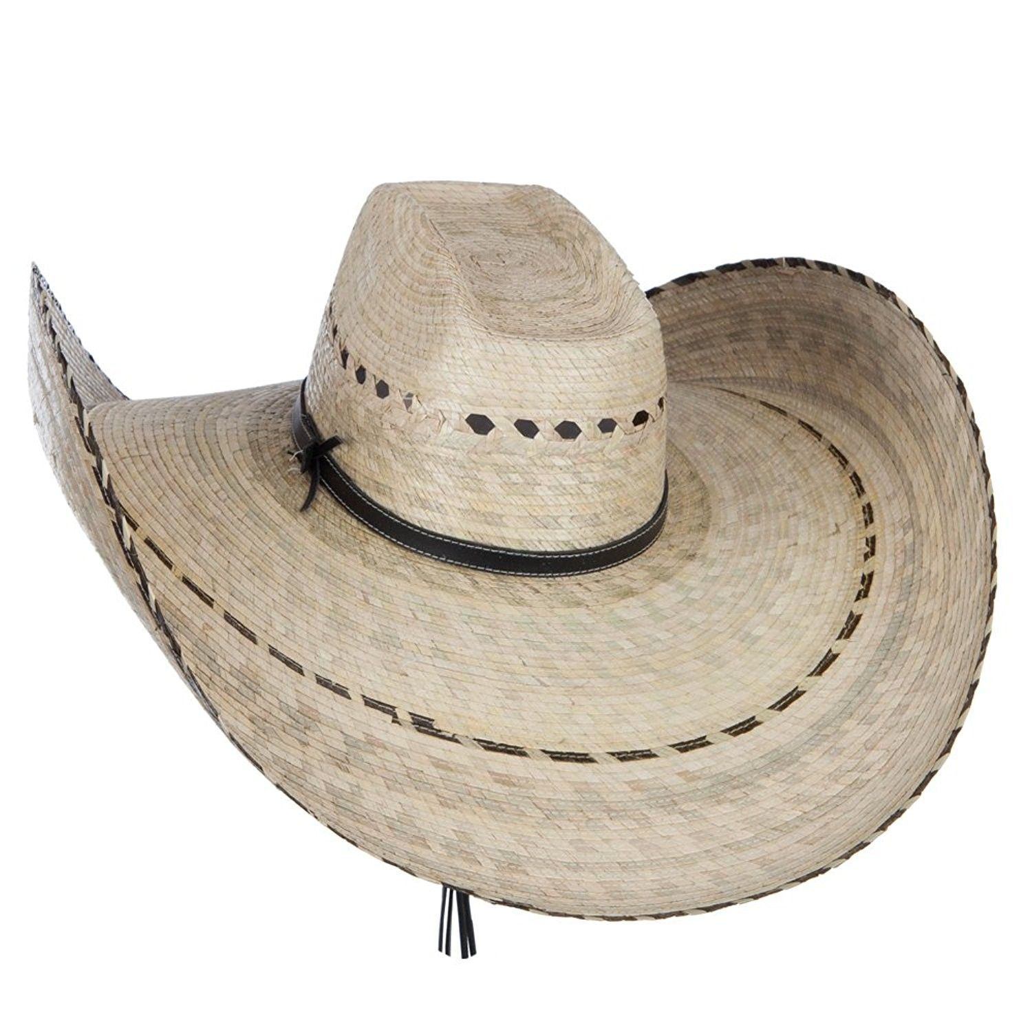 Mexican Style Wide Brim Straw Hat - Natural - CL12FV92YGJ - Hats   Caps 37a21bcf088