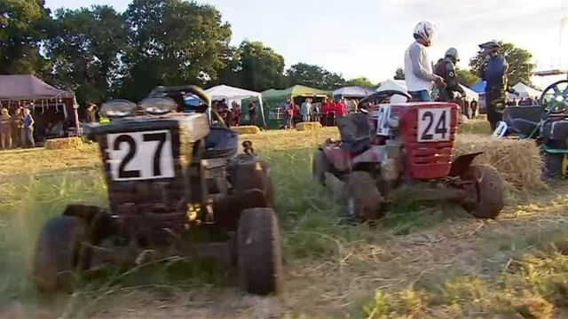 Ready, steady, mow! Lawnmower endurance race in West Sussex – video