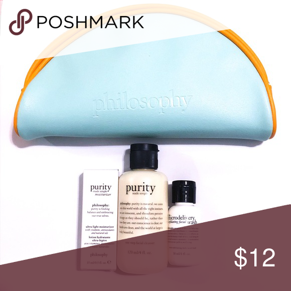 Philosophy Set Purity And Microdelivery New Philosophy 3 Piece Deluxe Travel Set Includes Purity Made Simp Simple Cleanser Purity Made Simple Facial Wash