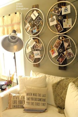 I thought I was original with using a bike wheel for decor...and then I see this....