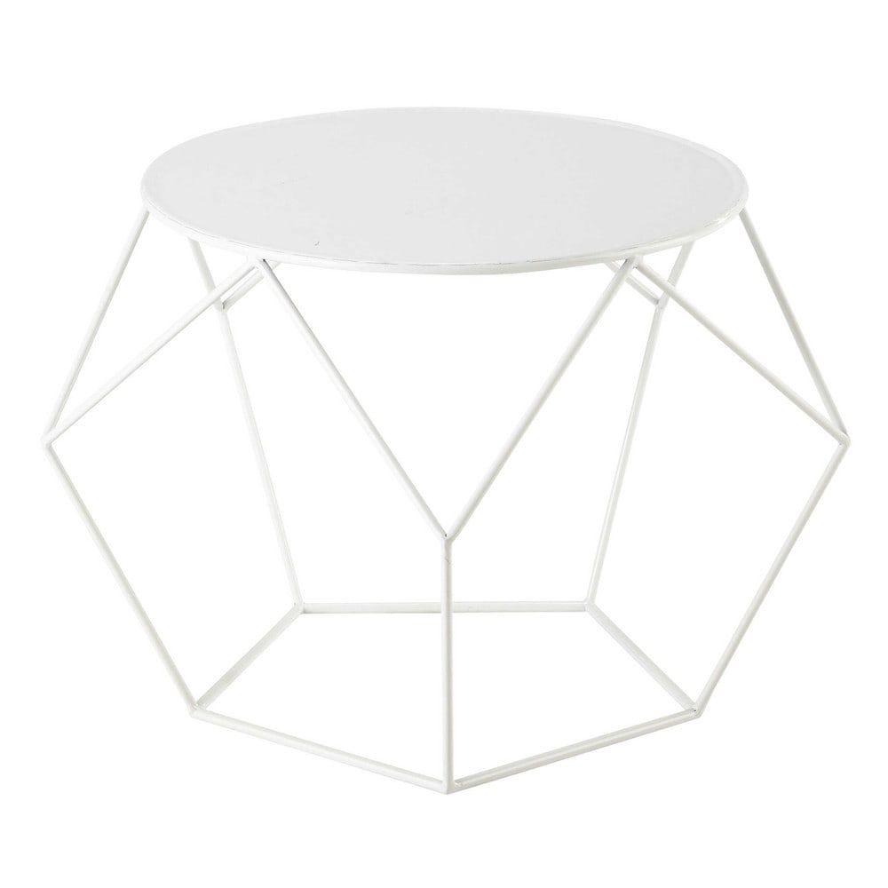 Runder Couchtisch aus Metall, D 64 cm, weiß | Pinterest | Teenager ...