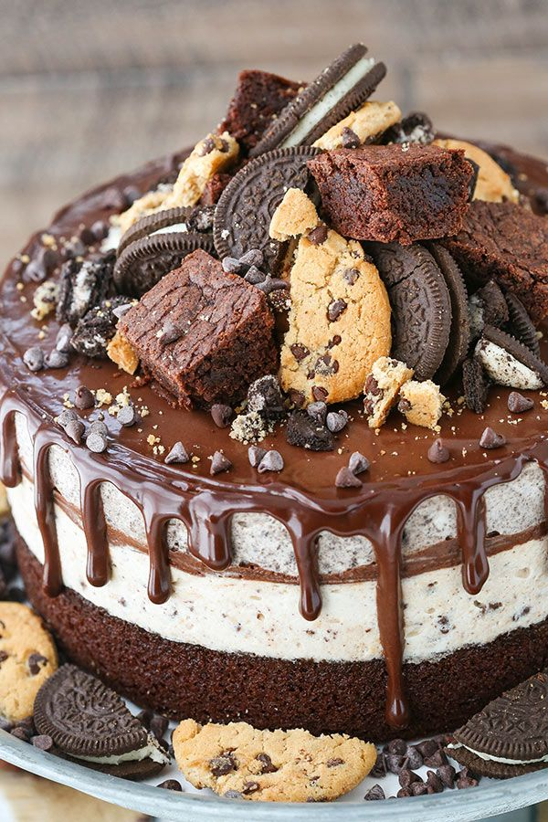 Oreo Brookie Ice Cream Cake Recipe Ice Cream Cake Recipe Desserts Oreo Cake