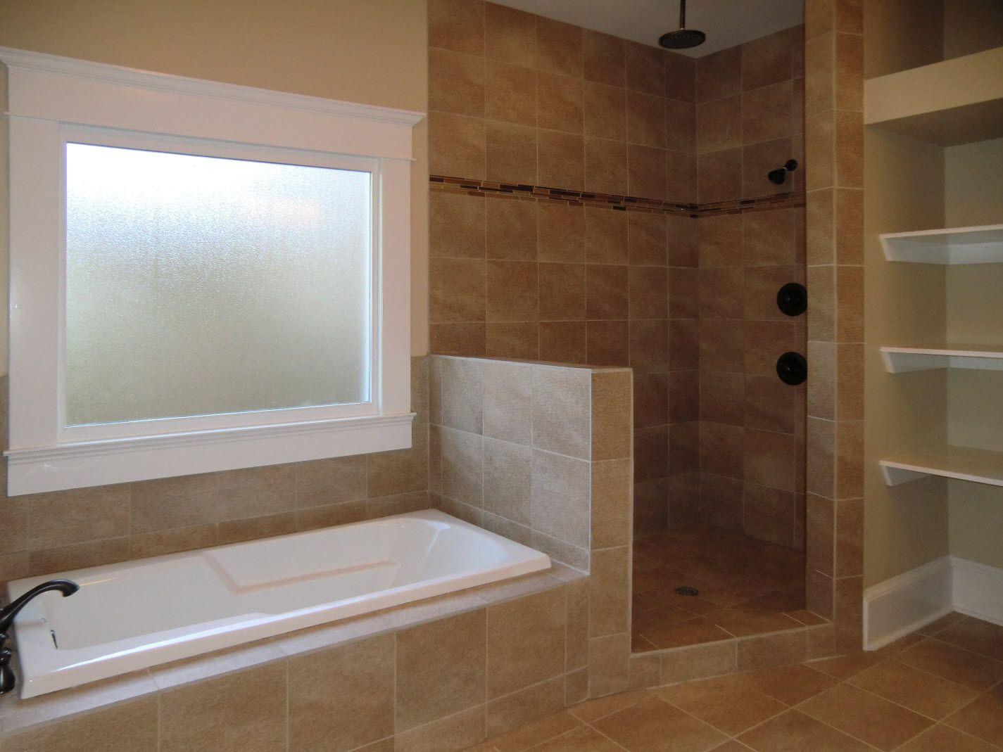 East Lake Drive Vision Pointe Homes Shower Tub Bathroom Design Bathrooms Remodel