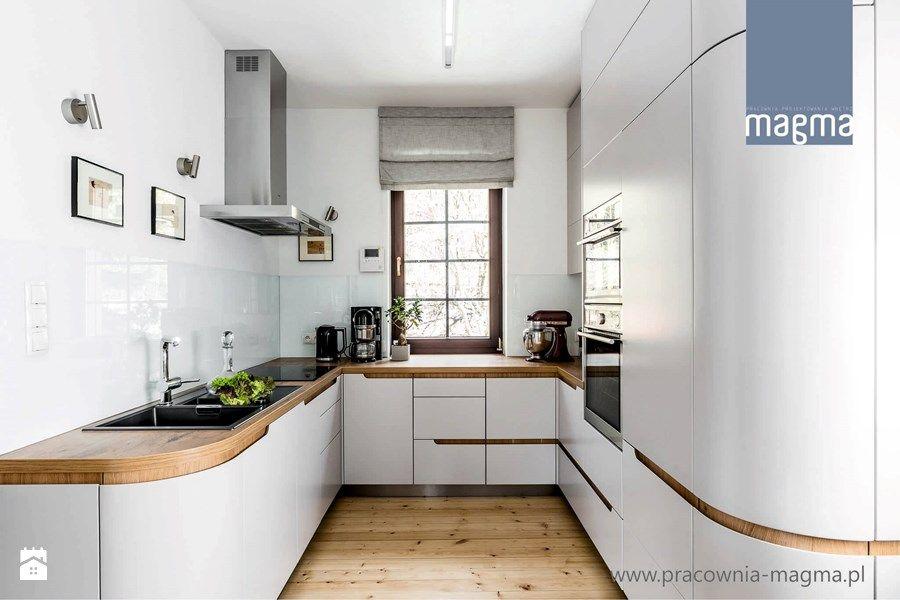 Kuchnie Lakierowane Nowoczesne Srednia Otwarta Kuchnia W Ksztalcie Litery U Z Kitchen Design Modern Small Kitchen Design Decor Kitchen Interior Design Modern