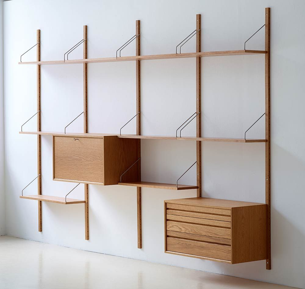 Mid century modern shelf storage shelving wall shelving systems office shelving