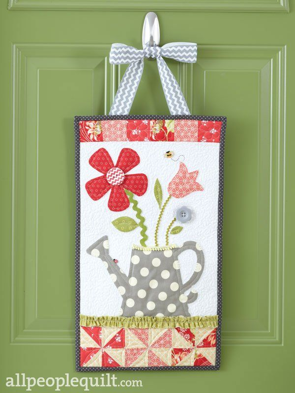 For girls welcome home spring kit as featured in quilts for Front door quilt pattern