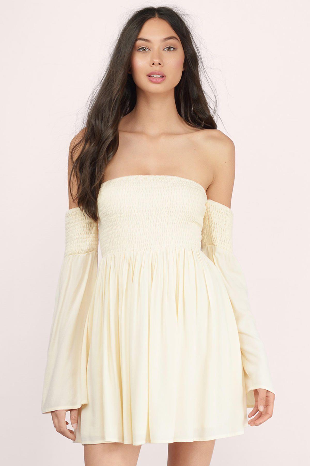 Ellie Off The Shoulder Dress | White off shoulder dress