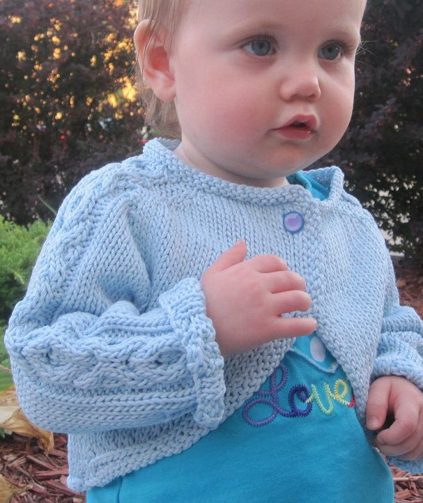 Free Knitting Pattern for Hugs and Kisses Baby Bolero - X ...
