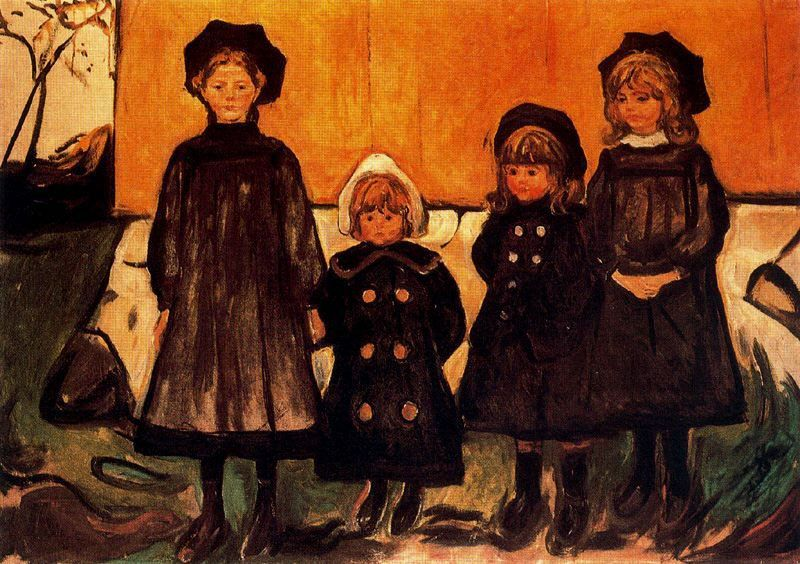 Edvard Munch - Four Girls at Asgardstrand 1903
