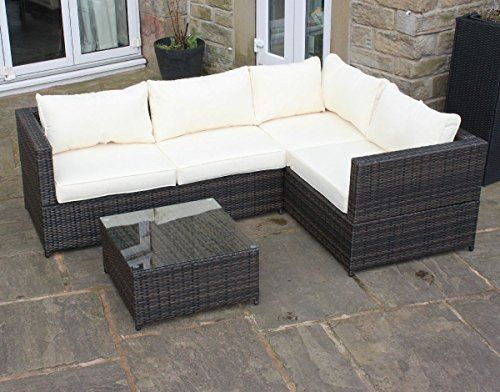 Rattan Garden Furniture 4 Seater rattan outdoor 4 seat corner sofa patio garden furniture  https