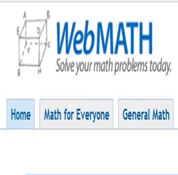 WEBMATH - - Enter your math problem, get the answer and explanation ...