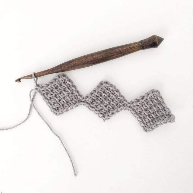 How to Use the Tunisian Entrelac Crochet Method | All things crochet ...
